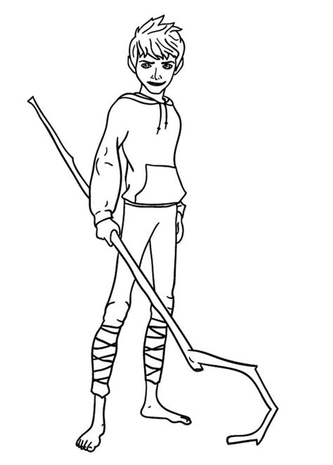 coloring pages elsa and jack jack frost from rise of the guardians coloring pages for
