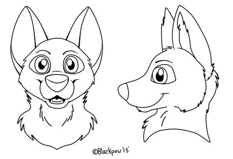 canine fursuit head template free to use by ccs mascots