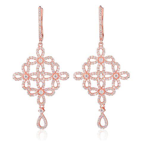 chandelier earrings uk ingenious gold chandelier earrings with open flowers ingenious from ingenious jewellery uk