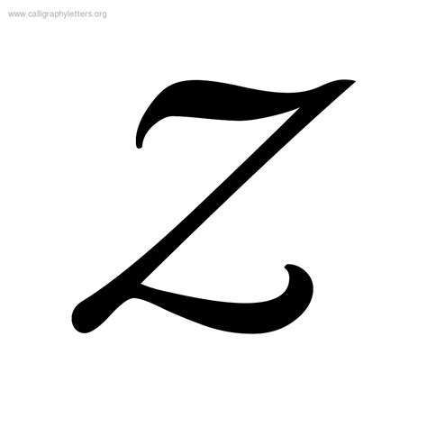 Letter Z playball baseball a z calligraphy lettering styles to