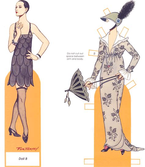 living doll nouveau dress a sling of paper dolls from dover s weekly newsletter