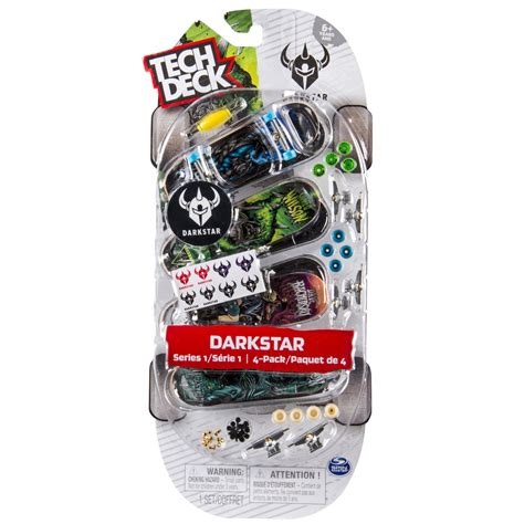 tech deck darkstar tech deck 96mm fingerboards 4 pack darkstar