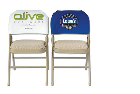 Paper Chair Covers For Folding Chairs - coated paper standard chair back cover color w bleed