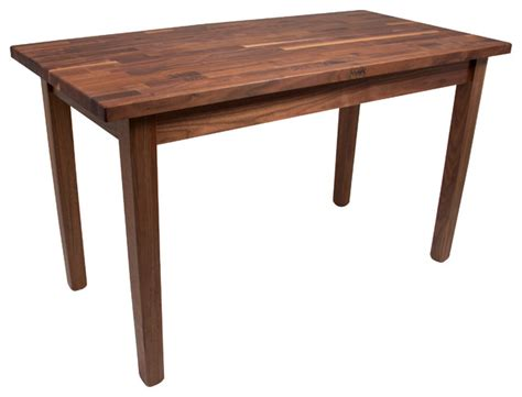 boos walnut country table for work or dining