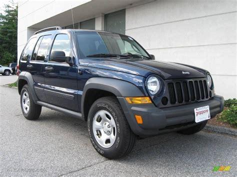 midnight blue jeep 2007 midnight blue pearl jeep liberty sport 16108311