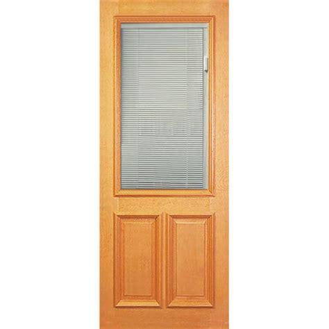 Half Lite Door woodcraft doors 2040 x 820 x 40mm clear glass half lite venetian blind entrance door