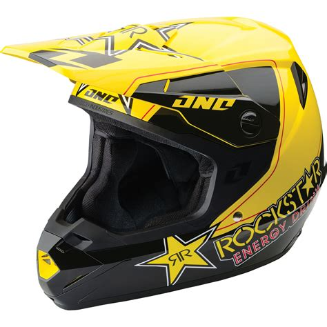rockstar energy motocross helmet one industries atom rockstar energy mx enduro off road atv