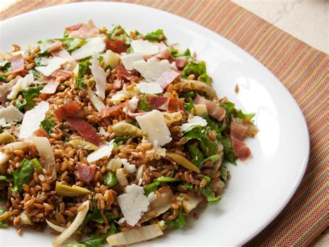 whole grains salad warm whole grain salad with fennel arugula prosciutto