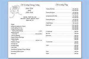 traditional wedding program template folded wedding bells template wedding programs templates
