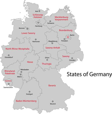 map germany regions map of germany guide of the world