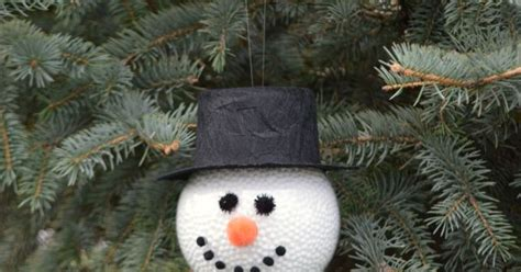 frosty the snowman homemade ornament hometalk