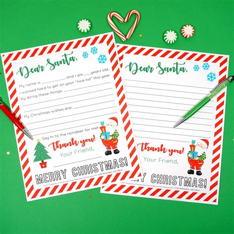 printable letter santa happiness homemade