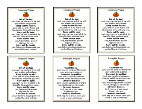 printable pumpkin bookmarks pumpkin prayer template perfect for the inside of a