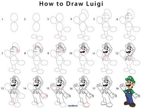how to a step by step how to draw luigi step by step pictures cool2bkids