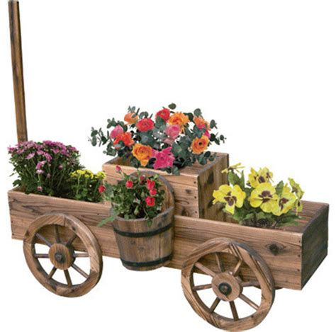 Wagon Planters by Garden Wagon Planters Outdoor Pots And Planters Hong