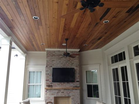 Exterior Ceiling Planks Beautiful Stained T G Wood Ceiling Traditional