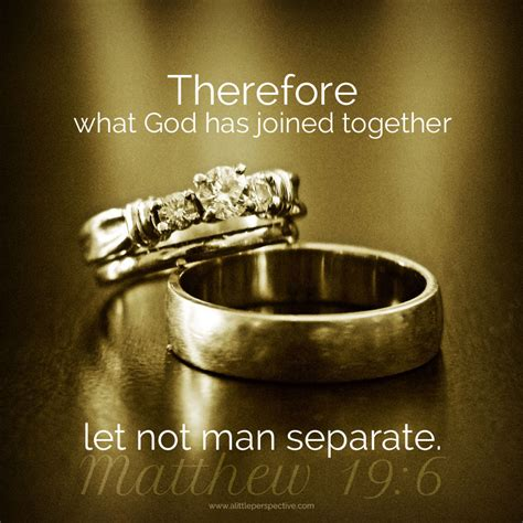 Wedding Rings Joined Together by Therefore What God Has Joined Together Let Not