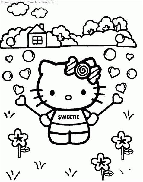 hello kitty baseball coloring pages coloring pages for girls hello kitty timeless miracle com