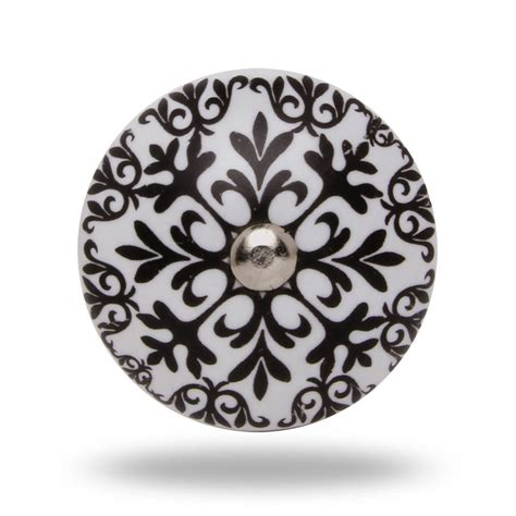 Black And White Knobs by Ceramic Morocco Knob In Black And White By Trinca Ferro
