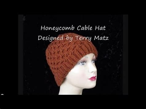cable pattern knit youtube knitting honeycomb hat youtube