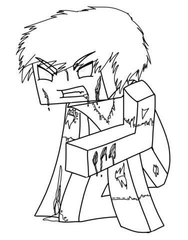 minecraft coloring pages popularmmos coloriage herobrine de minecraft coloriages 224 imprimer