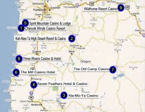 indian casinos california map oregon gaming directory