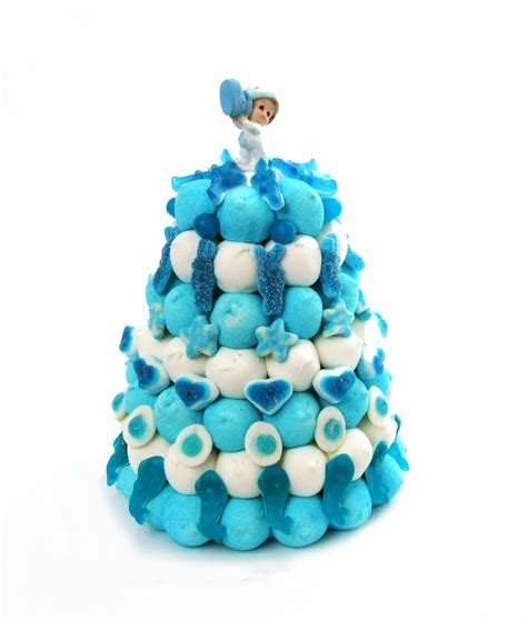 Decoration Gateau Garcon by Gateau De Bonbons Bapt 234 Me Gar 231 On Mongateaudebonbons