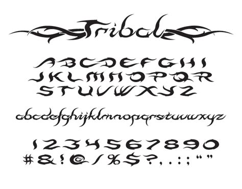 tribal tattoo lettering tribal font
