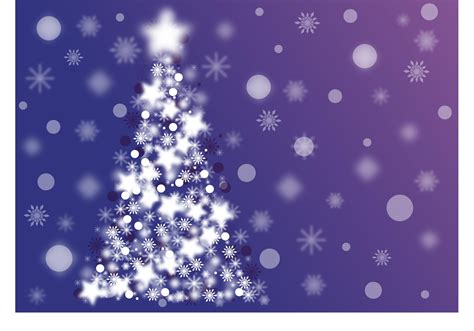 free sparkle christmas tree vector