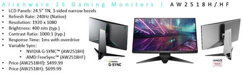 alienware aw2518hf lighting alienware 25 25 quot hd 240 hz monitor with rgb led lighting