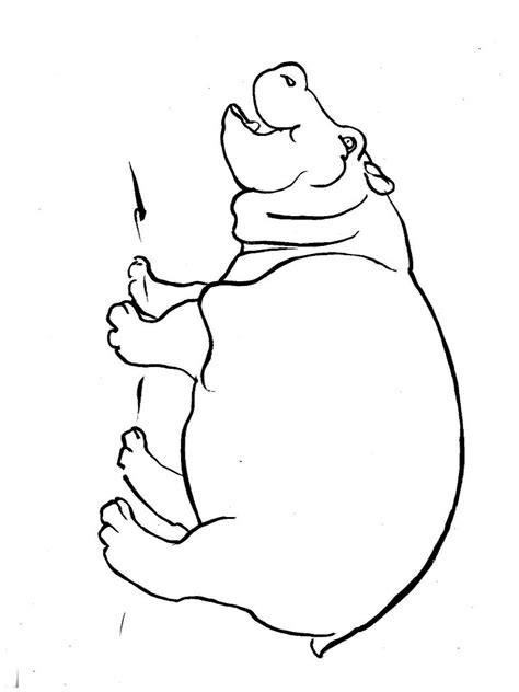 Hippopotamus Coloring Page by Hippopotamus Coloring Pages And Print