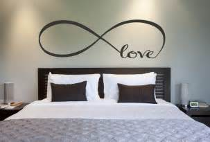 Love infinity symbol bedroom wall decal love decor by newyorkvinyl