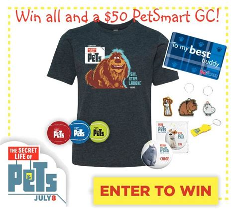 Free Petsmart Gift Card - the secret life of pets prize pack giveaway it s free at last