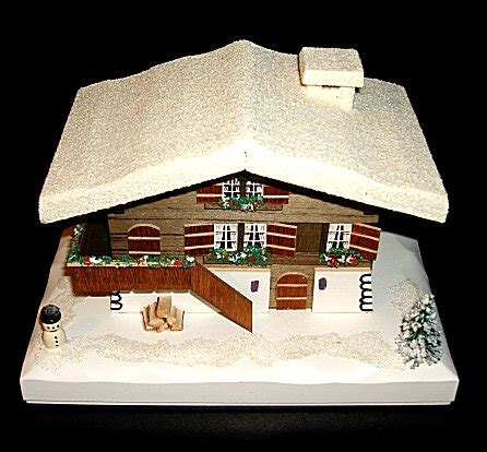 swiss house music swiss farm house music box with snow and snowman