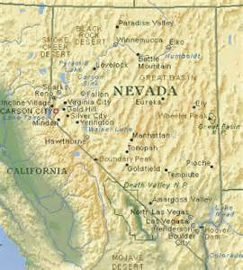 physical map of nevada map of nevada geography printable map of nevada state