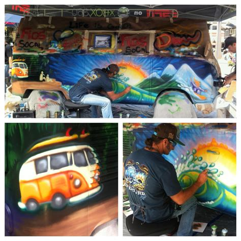 volkswagen bus painting spray paint drew brophy surf lifestyle art