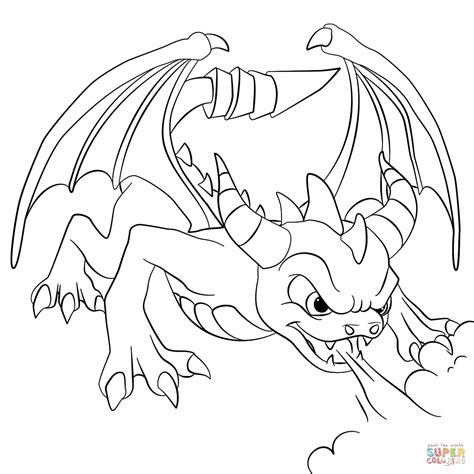 coloring pages of spyro the dragon skylanders dark spyro coloring page free printable