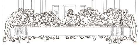 the last supper by leonardo da vinci coloring page free