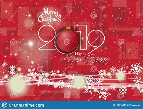 happy  year   merry christmas card   design stock vector illustration