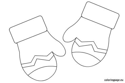 mittens coloring page printables best photos of pair of mittens coloring page winter