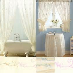 honeysuckle bathroom range shower window curtains or