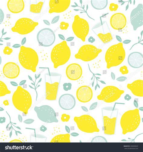 juice pattern vector seamless citrus fruit lemon juice mocktail stock vector