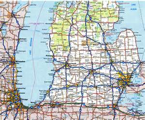 Road Map Of Michigan by Highway And Road Michiganfree Maps Of Us