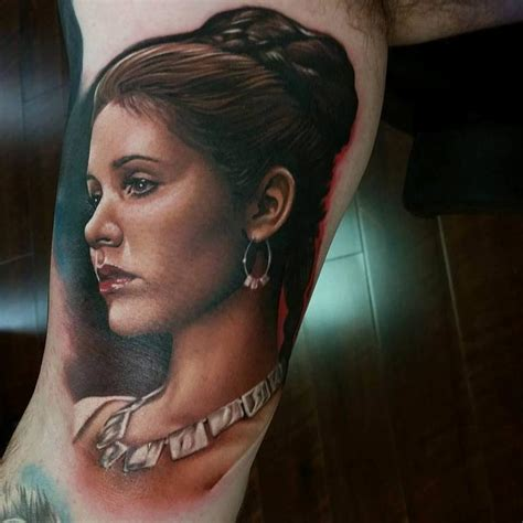 princess leia tattoo princess leia by miller tattoonow