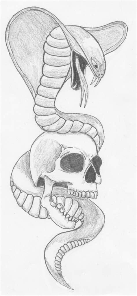 imagenes de calaveras y serpientes dibujos de cobras a lapiz imagui