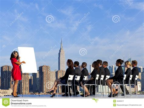 In Nyc For Meetings Today Just In Time For The Re by Outdoor Business Meeting In New York City Stock Photo