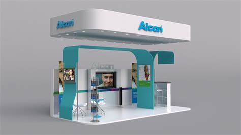 booth design free alcon booth on behance