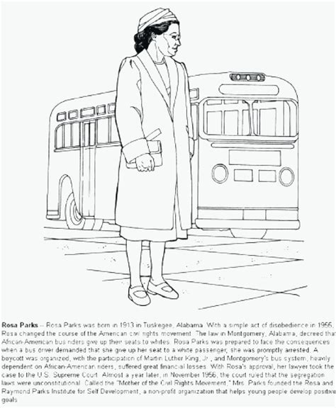 rosaparks coloring page  standing rosa parks coloring pages