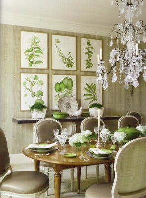 The Botanical Dining Room by Botanical Print Gretha Scholtz