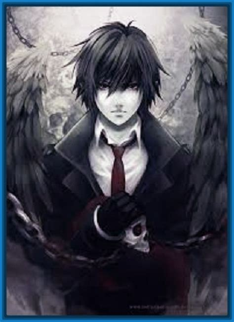 imagenes anime hombres evil anime girl black hair red eyes